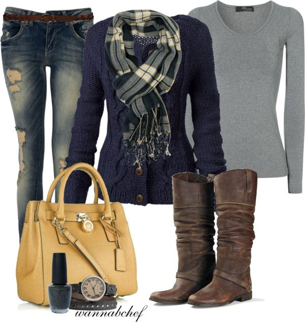 """""""Navy Blue and Plaid"""" on Polyvore"""