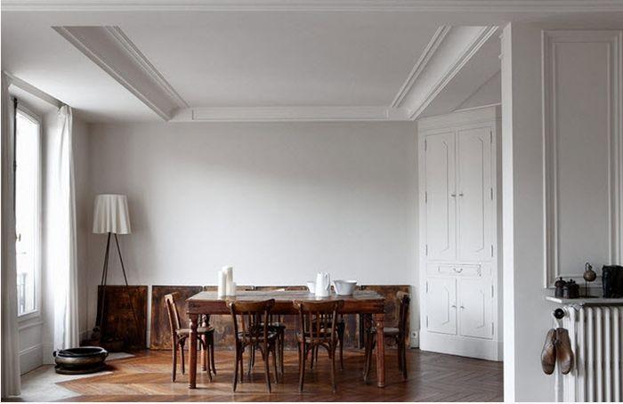 Design to InspireDining Rooms, Spaces, Floors, Wood, Paul Raesid, Paris Apartments, Interiors Design, Dining Tables, White Wall