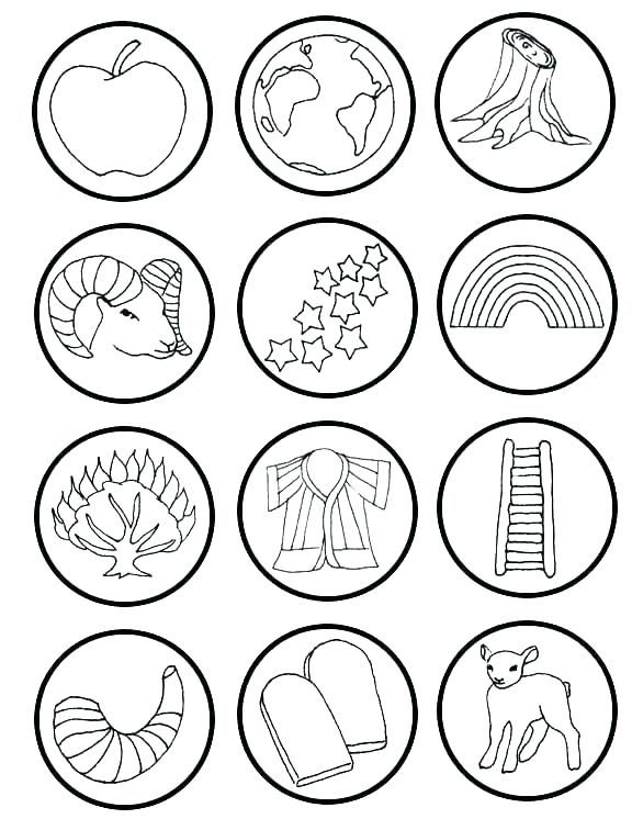 Jesse Tree Symbols Coloring Pages Oil Horn A Sandals Sketch