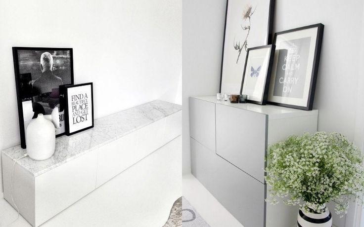 Fesselnd Ikea Besta Regal Aufbewahrungssystem Simple Minimalistisches Design Weiss Grau Marmor Platte Deko Schwarz    Möbel Ideen   Pinterest