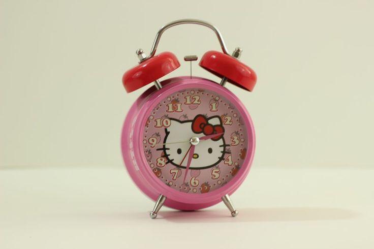 Hello Kitty Jumbo Twin Bell Alarm Clock in Pink #HelloKitty #Asian