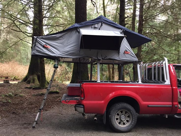 Nice Example Of A Pickup Bed Mounted Roof Top Tent Opening