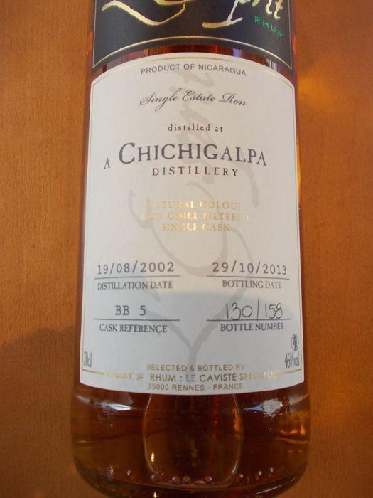 Chichigalpa distilleerderij - vintage 2002 - één vat - slechts 158 flessen  single estate ron.gedistilleerd op chichigalpa distilleerderij 19/08/2002.gebotteld: 29/10/2013.BB 4 vat referentie. 130/158 fles nummer.één vat collectie.  EUR 47.00  Meer informatie
