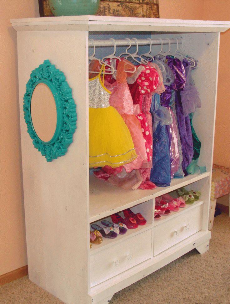 Dress up cabinet from an entertainment center
