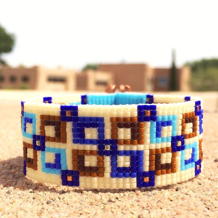 Square Deal Bead Loom Bracelet Artisanal Jewelry Native Motif Western Beaded Gypsy Boho Bohemian Native American by PuebloAndCo on Etsy https://www.etsy.com/listing/234218107/square-deal-bead-loom-bracelet-artisanal