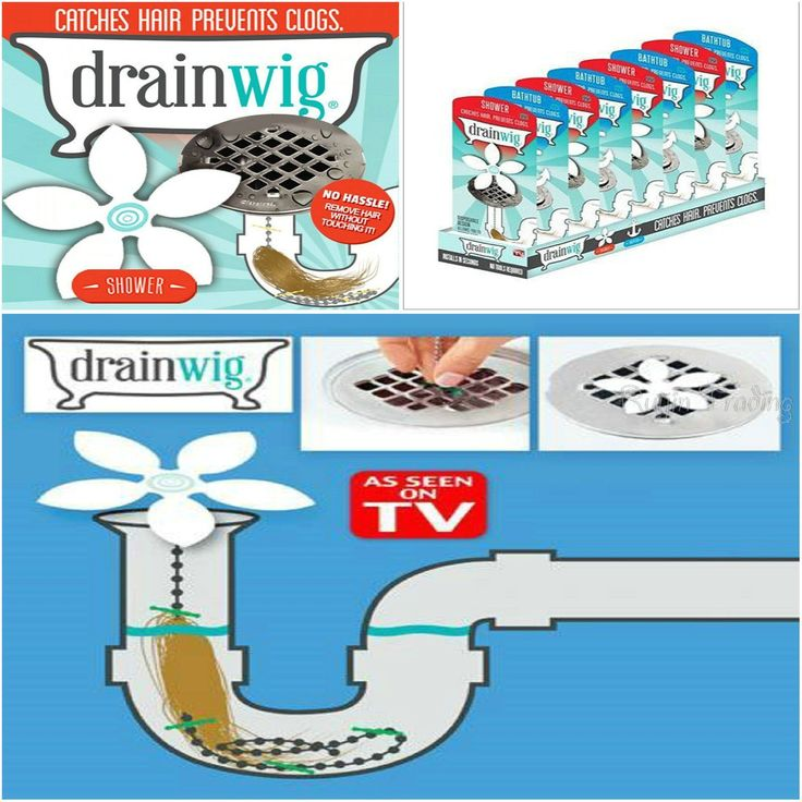 Drainwig Bathroom Shower Drain Wig Chain Cleaner Hair Clog Remover Cleaning  Tool