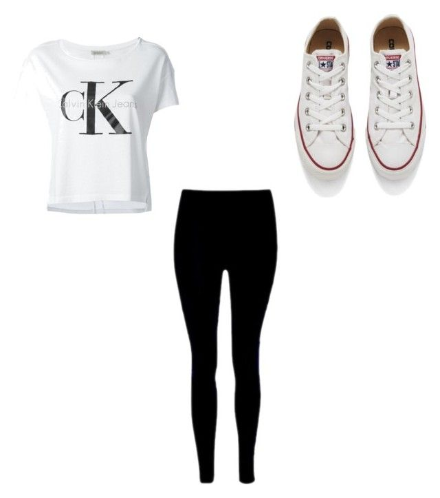 """""""CK chill outfit"""" by tiyahspaans on Polyvore featuring Calvin Klein Jeans and Converse"""