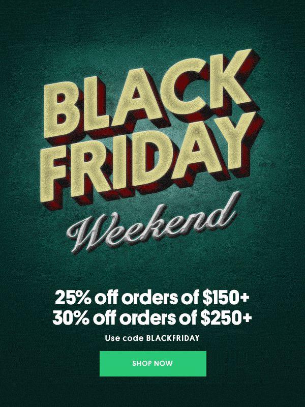 Bonobos – Black Friday Weekend // email / GIF / black and white / BW