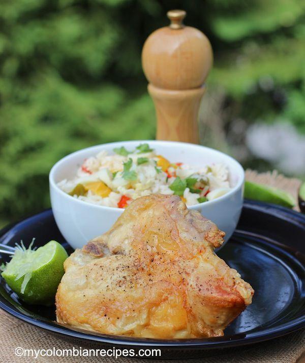 Chicken with Honey and Lime (Pollo al Limón y Miel)  mycolombianrecipes.com
