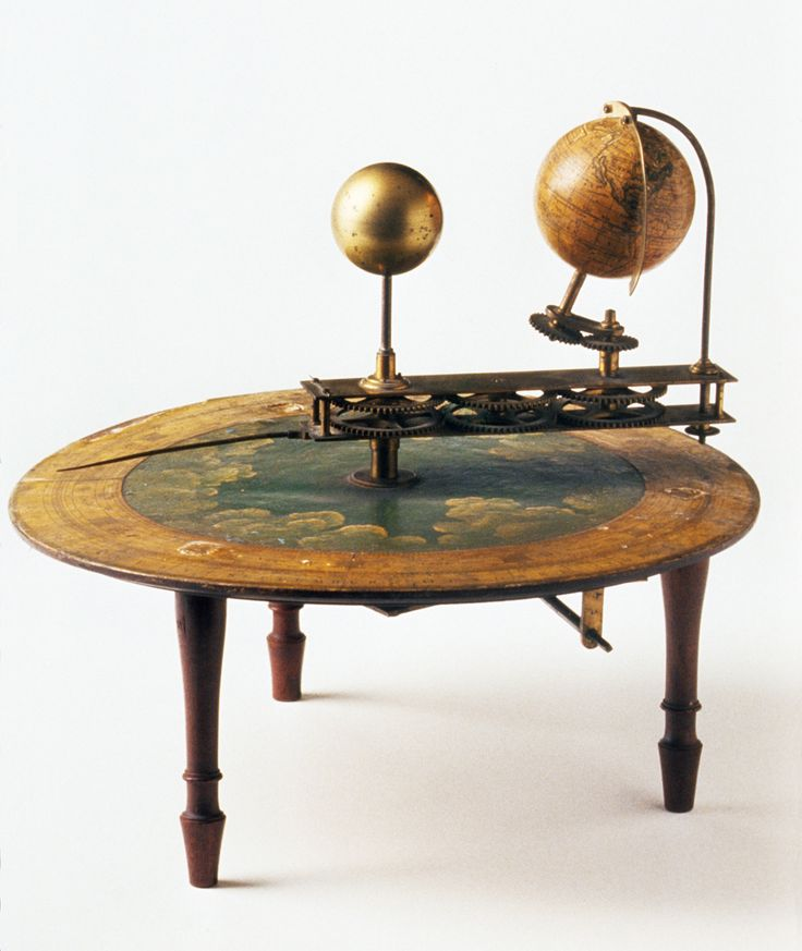 Tellurion c.1790-1800 English. A tellurion is an instrument that shows how the movement of the earth on its axis and around the sun causes day and night and the seasons.