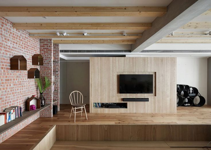 "Apartment interior design created in order to promote the relation between each area openly Architects: KplusCDesign Location: Taipei City, Taiwan Year: 2016 Area: 1.292 ft²/ 120 m² Photo courtesy: KplusCDesign Description: ""Located in East District, Taipei City, this case contains 120 m2 (1,292 ft2) area for use. Because the district has been developed earlier, there are many buildings …"