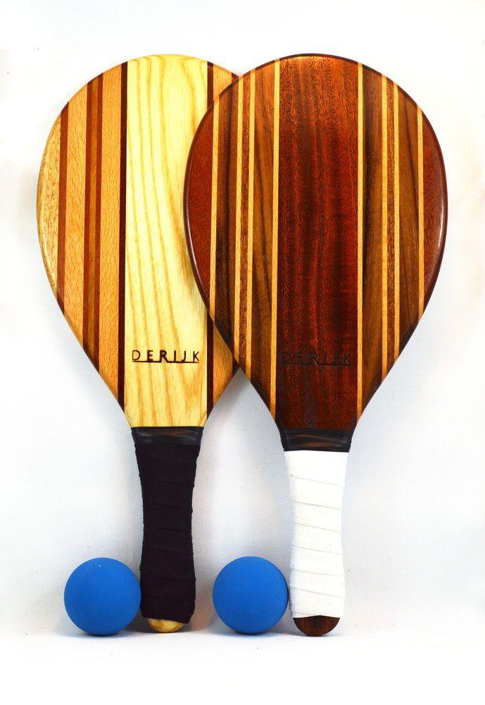 Frescobol beach bats deRijk wood beach tennis wooden paddles