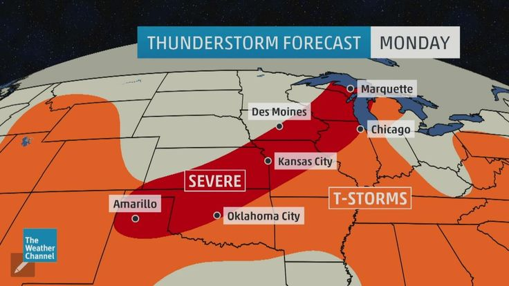 Severe Thunderstorm Watch Issued; Severe Storms, Flash Flood Threats in the Plains, South (FORECAST) - weather.com