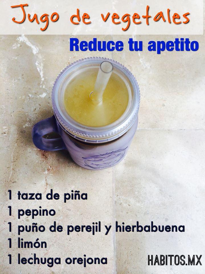 Jugo de vegetales -REDUCE TU APETITO-