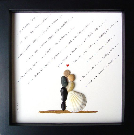 Unique WEDDING Gift-Customized Wedding Gift-Bride and Groom Gift- Couple's Gift- Wedding Art- Bridal Shower Gift- Pebble Art by MedhaRode