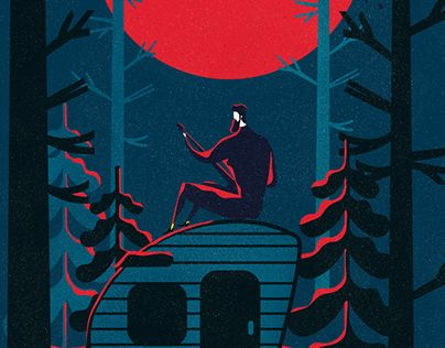 """Check out new work on my @Behance portfolio: """"To the moon / print & animation"""" http://be.net/gallery/63406843/To-the-moon-print-animation"""