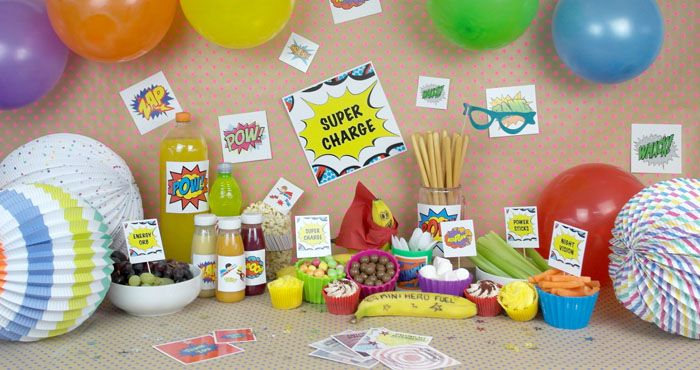 Mini Heroes Party - mini heroes week  Checkout some ideas for a super hero ideas with Square Snaps!