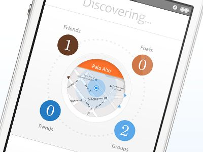 Nice to see design that is based on the tactile sensibility of the mobile platform rather some analog metaphor.     Discovery