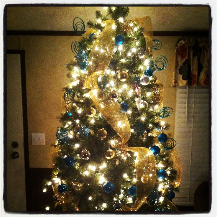 free royal blue and silver christmas tree - Royal Blue And Gold Christmas Decorations