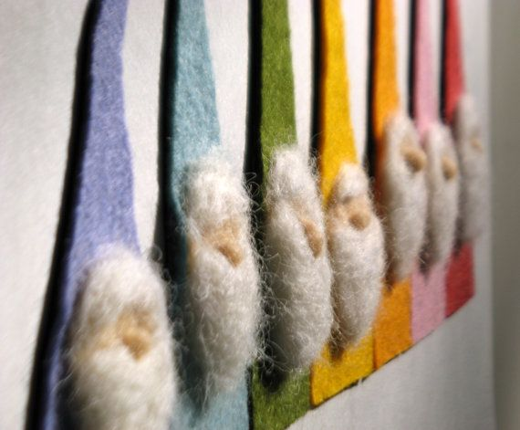 Felt Rainbow Gnome Magnets  - Waldorf Inspired