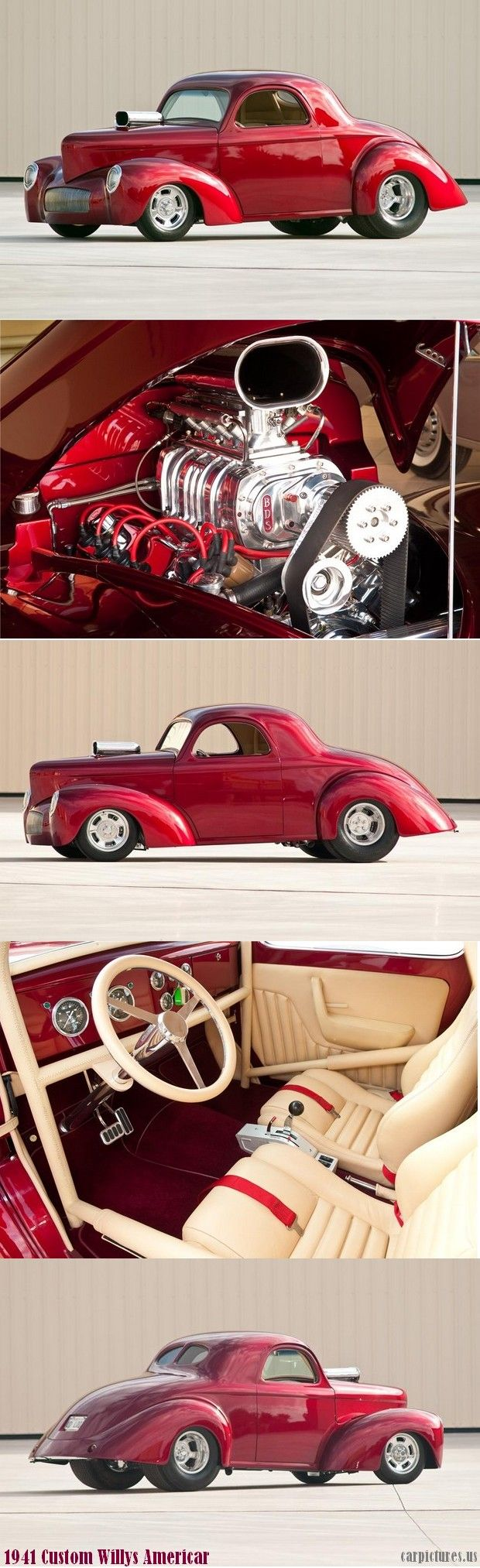 1941 #WILLYS AMERICAR #CUSTOM #COUPE