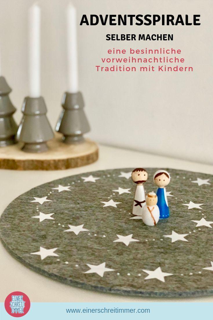 Adventsspirale selber machen – besinnliche vorweihnachtliche Tradition mit Kindern