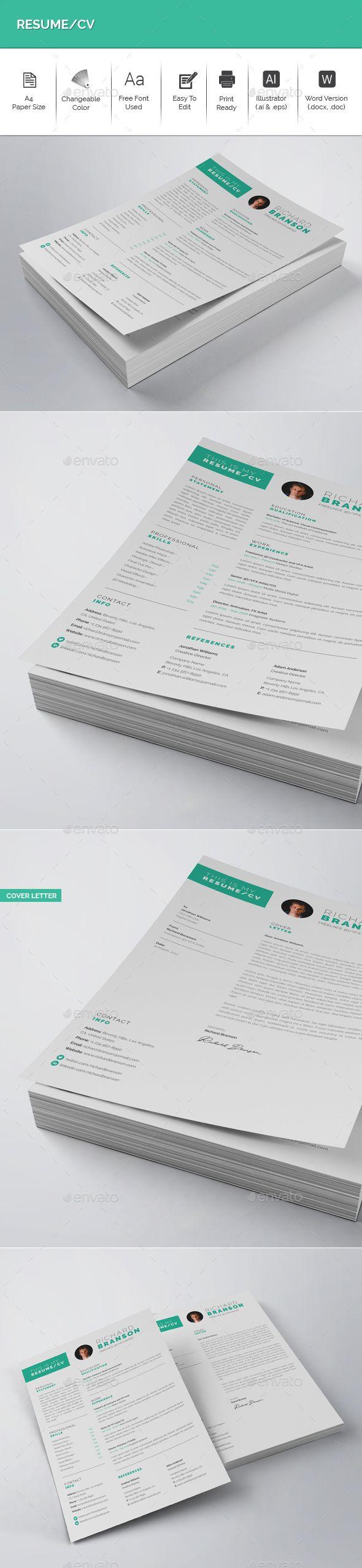 ResumeCV 100 best CV images on Pinterest