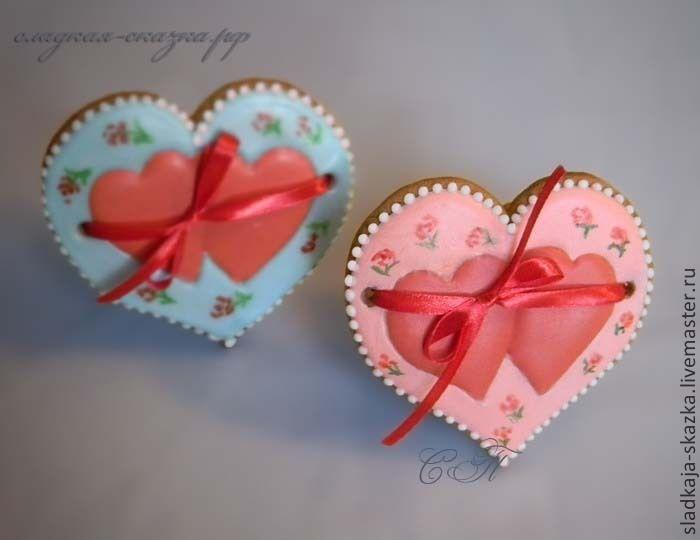 Купить Пряники ко Дню святого Валентина - пряник, пряники, пряники на заказ