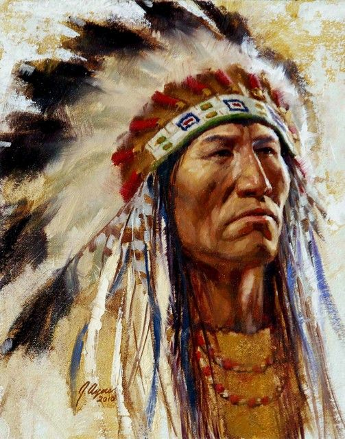 fine oil native american paintings | ... of Distinction | Native American Indian art | James Ayers Studios