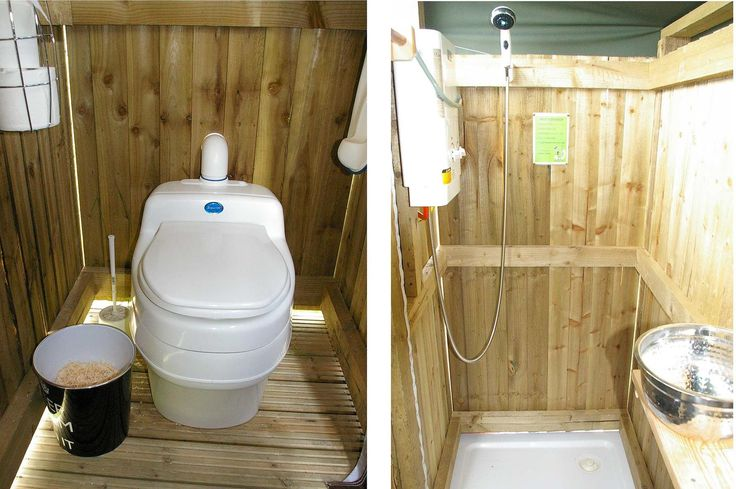 Rustic installation of the Separett Villa 9010 urine diverting compost toilet in a glamping yurt. 12V fan ensure odourless operation :-)