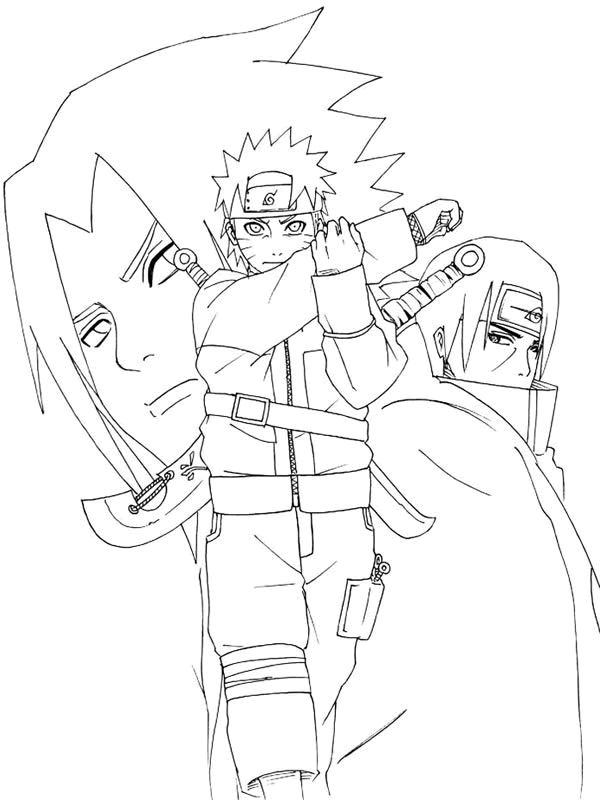 naruto 999 coloring pages - Coloring Stencils