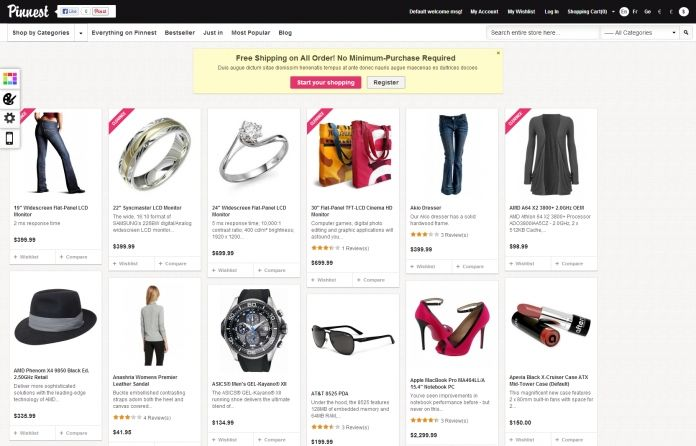 """""""EM Finnest"""" - #Magento theme purposed for fashion,accessories or jewelry #shop. #Pinterest style."""
