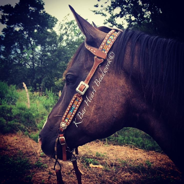 how to make beaded horse tack