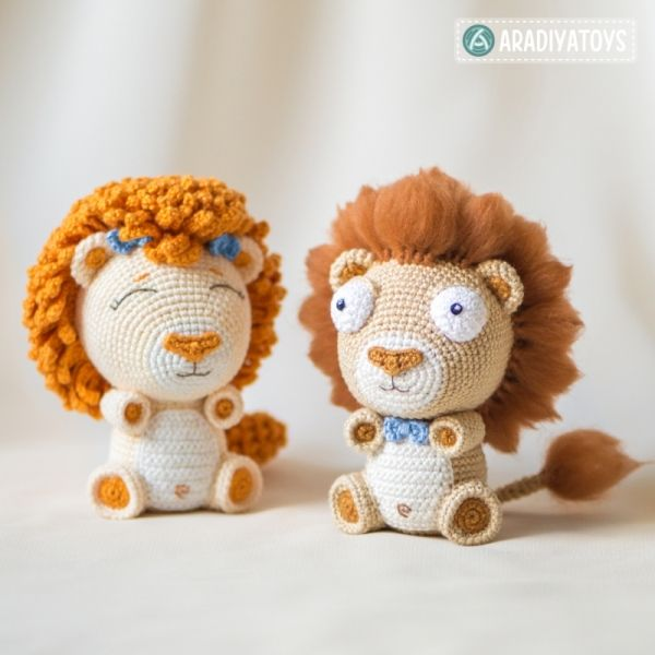 Lion Cubs Bobby And Lily Amigurumi Pattern