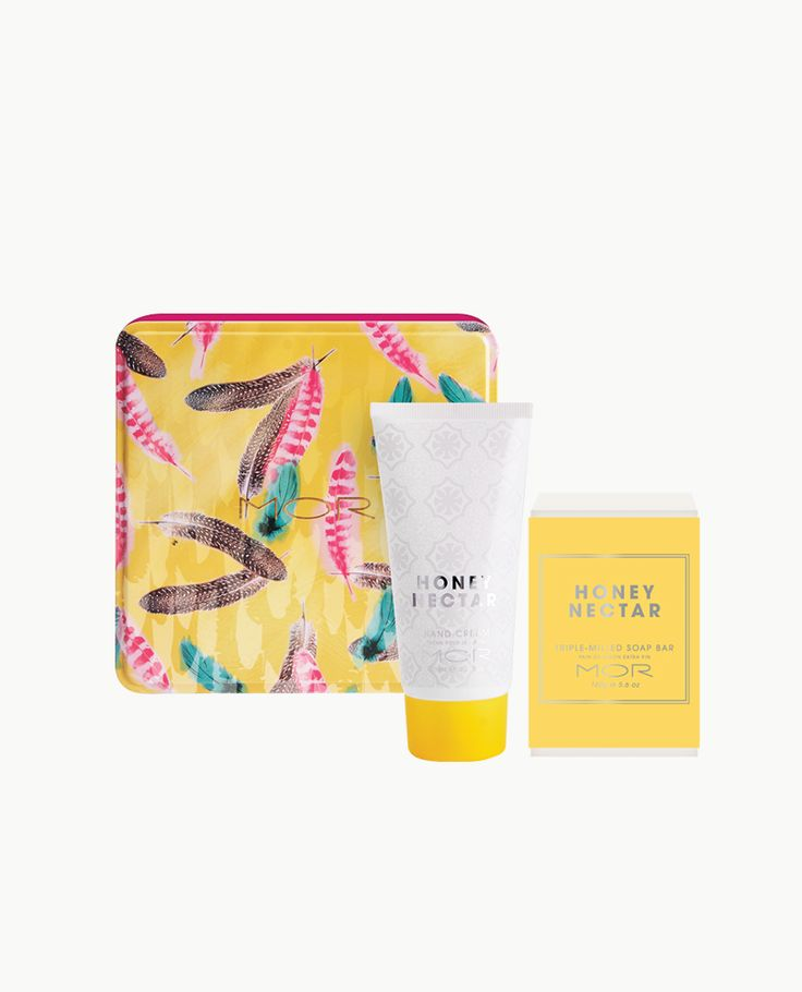 An Essentials duo containing a vitamin enriched Triple-Milled Soap Bar and Hand Cream in the sweet warm scent of Honey Nectar, encased in an adorned keepsake tin.
