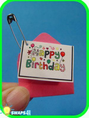 HAPPY BIRTHDAY Card for Girl Scouts! SWAPS Girl Craft Kit - Swaps4Less