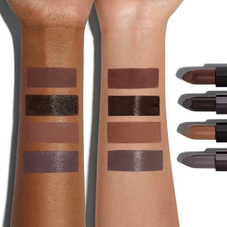 Frosty, moody, perfect for sweater weather—wintry shades from our  #BeLegendary120 Lipsticks. Which one is for you? . From top: Warrior Pose (warm smoky matte), Bankrolled (sheer black cream), Shavasana (taupe matte), Grunge (cool grey cream)