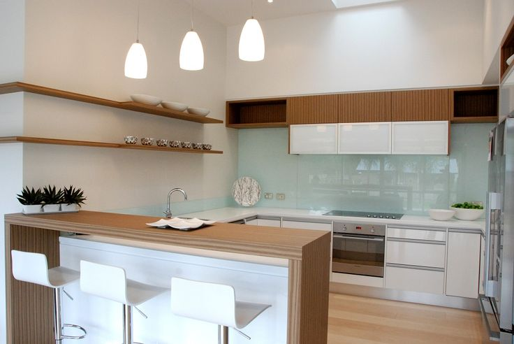 Natural light arrives through the skylight in this marvelous central kitchen