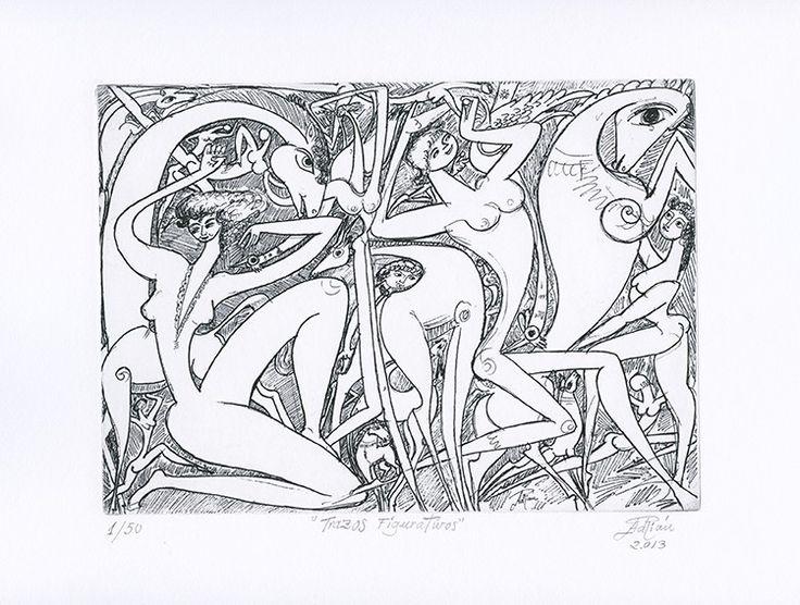 Trazos figurativos de Adrián Navarro