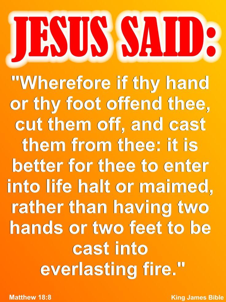 Listen to what Jesus actually said.