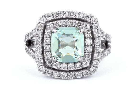 A mint green tourmaline and diamond ring by GALACIA DESIGNER JEWELLERY.