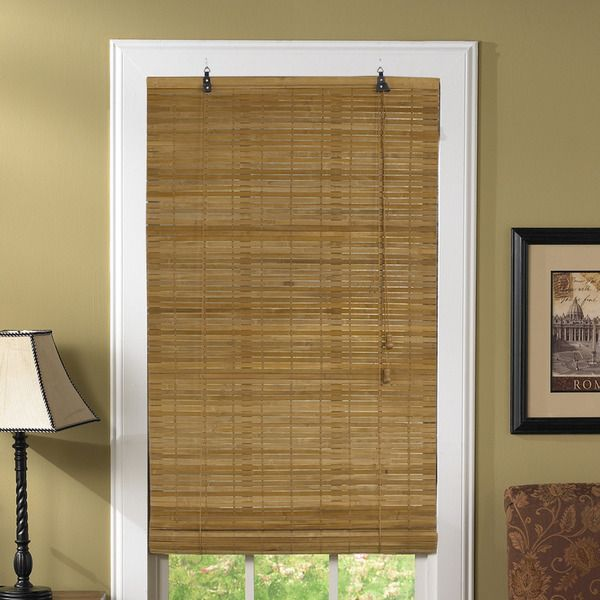 Lewis Hyman Venezia Flatstick Bamboo Spice Roll-Up Blind   Overstock.com Shopping - The Best Deals on Blinds & Shades