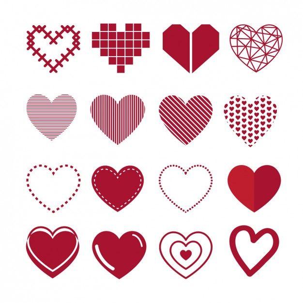 Coleção de coração Vetor grátis