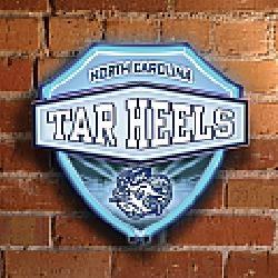 Memory Company North Carolina Tar Heels Neon Shield Wall Lamp