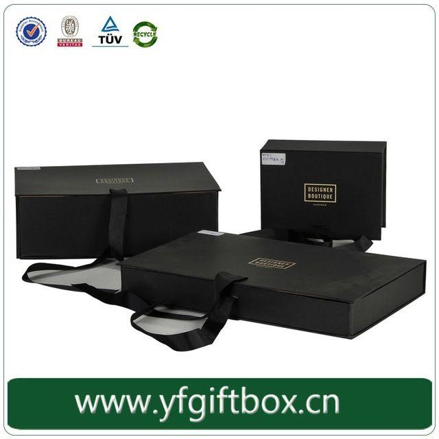 Китай поставщиков матовая черная бумага магнитная складная картонная коробка с лентой закрытия горячее тиснение логотипа пользовательские подарок упаковку-вУпаковочные коробки из Упаковка и печать на m.russian.alibaba.com.