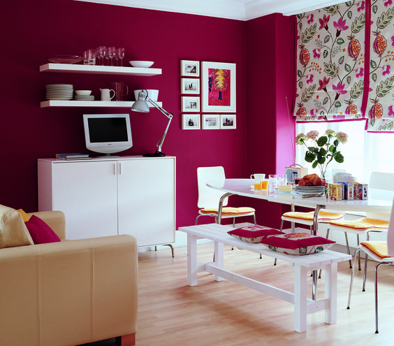 Colorful Decorating Ideas for a Small Room  Magenta BedroomsRoom. Top 25 ideas about Magenta Walls on Pinterest   Purple palette