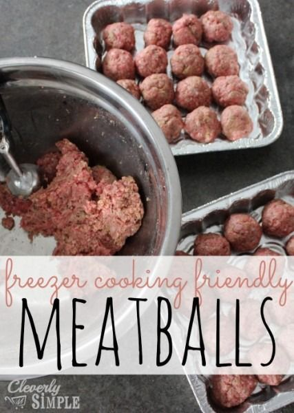 Here's an easy meatball recipe that's perfect for freezer cooking!  #recipe #freezercooking   Cleverly Simple