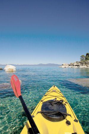 Lake Tahoe kayaking. The best way to cruise the shoreline.