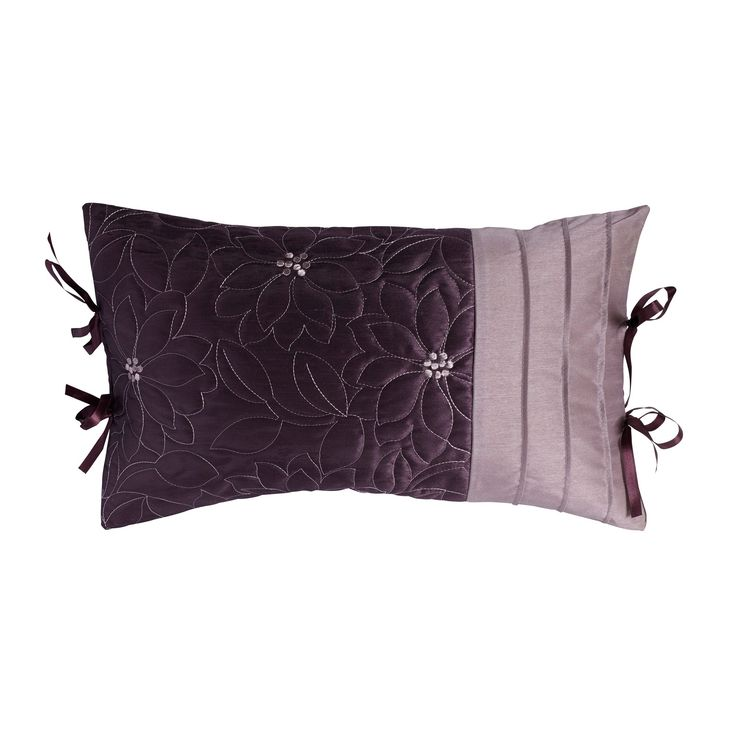 Chartwell Amy Floral Plum Cushion | Departments | DIY at B&Q