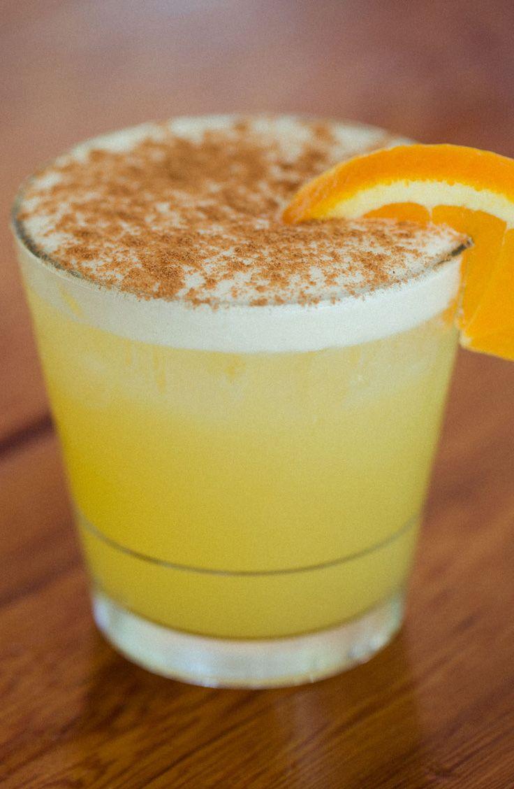 Rum, pineapple + cinnamon cocktail